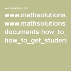 www.mathsolutions.com documents how_to_get_students_talking.pdf Talk Moves, Students, Pdf, How To Get, Math Equations