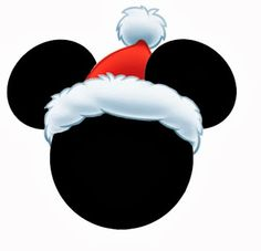 Mickey and Minnie Heads Dressed for Christmas. Disney Christmas Decorations, Mickey Christmas, Black Christmas, Christmas Images, Christmas Crafts For Kids, Disney Printables, Free Christmas Printables, Christmas Templates, Mickey Mouse Cake Images