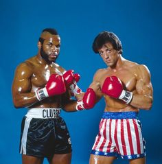 Publicity shot of Mr T and Sylvester Stallone for Rocky III . Rocky Series, Rocky Film, Rocky 3, Rocky Balboa, Rocky Sylvester Stallone, Stallone Rocky, Iconic Movies, Classic Movies, Great Movies