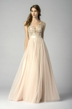 Watters 7319i Sequin Lace Bridesmaid Gown