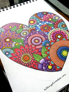 Completed floral heart. Available for commissions :)
