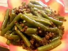 Hen'omby sy Haricots Verts - cuisine of Madagascar