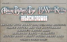 Peach Music Festival Lineup Phase 1. I do love me some Allman Brothers....and the Black Crowes too?!