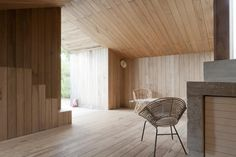 Gallery of inspirational imagery and photos from around the world: Remodelista. Simple interior materials/lines creating interest.