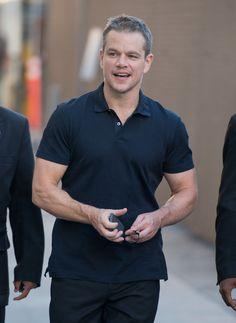 Matt Damon Photos - Matt Damon at 'Jimmy Kimmel Live' Sept 2015 - Zimbio