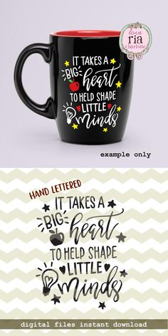 It takes a big heart to help shape little minds, teachers day quote digital cut files, SVG, DXF stud Teacher Appreciation Quotes, Teacher Quotes, Teachers Day Gifts, Teacher Gifts, Teacher Valentine, Teachers' Day, Silhouette Cameo Projects, Quote Of The Day, Mindfulness