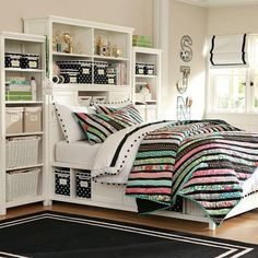 Want these beds from Pottery Barn Teen for the kids.  In dark brown