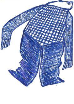 """""""Abgehoben – angestossen"""", 1983. Der wichtige Mannheimer Aussenseiterkünstler Ernst Kolb ist heute (noch) fast unbekannt. Das dürfte sich wohl ändern. Im Dezember 2012 hat die «Collection de l'Art Brut» in Lausanne 26 Zeichnungen erworben und in der Fachzeitschrift RAWVISION, werden seine Zeichnungen in der nächsten Nummer (Nr.79) einem breiteren Publikum vorgestellt. Gut 100 seiner Zeichnungen können bereits jetzt auf www.artbrut.li oder www.aussenseiterk... entdeckt werden."""