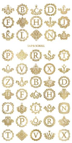 #Vintage #alphabetic coats of arms by Guten Tag Vector on @creativemarket