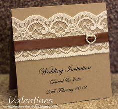 lace diy invitations