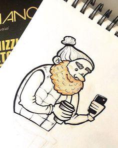 Этого милого рыжего бородача я встретила в кафе Кракова. Нашла иллюстрацию в…