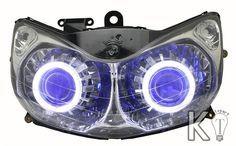 Honda ST1300 Pan European Angel eye HID Projector Light Headlight Assembly 2001 2002 2003 2004 2005 2006 2007 2008 2009 2010 2011 2012 2013