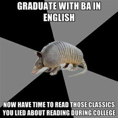 Haha!  English Major Armadillo