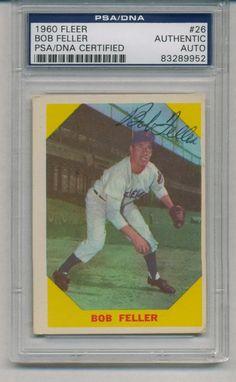 Bob Feller Signed Auto PSA DNA Vintage 1960 Fleer Card 26 83289952 | eBay #bobfeller #feller #signedcard #autograph #vintage #1960