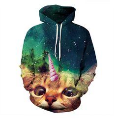 Barato Camisas encapuçados unicat unicórnio gatos gatinho animais galaxy impressão 3d hoodie suores mulheres camisolas dos homens de roupas casuais plus size, Compro Qualidade Hoodies & Camisolas diretamente de fornecedores da China: CARACTERÍSTICA de PRODUTO:Tipo de Item: Modamoletom,HoodiesMaterial: Poliéster, Spandex,algodãodecote:-O nec