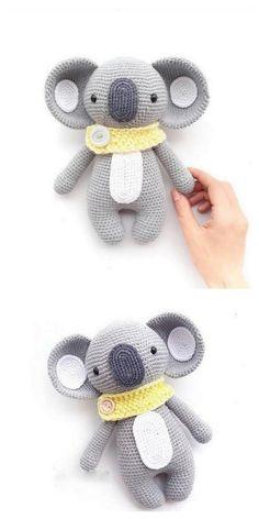 Educational and interesting ideas about amigurumi, crochet tutorials are here. Giraffe Crochet, Crochet Teddy, Crochet Dolls, Koala Craft, Crochet Amigurumi Free Patterns, Stuffed Animal Patterns, Amigurumi Doll, Crochet Projects, Tiger Cubs