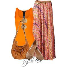 maxi skirt outfits | Stylish Eve Outfits 2013: Printed Maxi Skirts for ... | Shorts & Skir ...