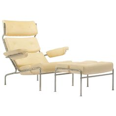 Rare Tv Lounge Chair And Ottoman by Arne Jacobsen | From a unique collection of antique and modern lounge chairs at http://www.1stdibs.com/furniture/seating/lounge-chairs/
