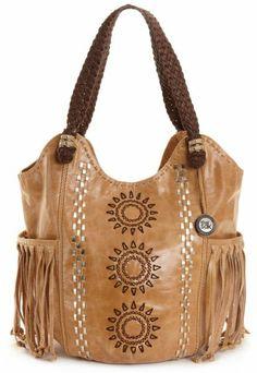 The Sak Indio Tote   The Sak Handbag Indio Leather Tote Large in Beige (camel fringe ...