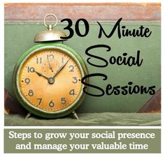 How can you grow your presence on social media without adding hours of work to your day? Click on the image to download your copy of the 30 Minute Social Sessions workbook and get simple easy to follow social media plans  to help you add social marketing into your crazy busy weekly schedule. #socialmedia #workbook
