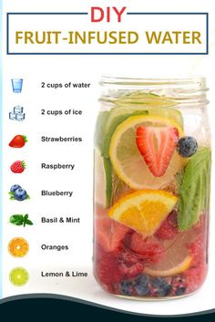 DIY Fruit-Infused Detox Water Recipes for Weight Loss & Glowing Skin - Juice . wall decor DIY Fruit-Infused Detox Water Recipes for Weight Loss & Glowing Skin - Juice . Vegan Detox, Healthy Detox, Healthy Smoothies, Healthy Drinks, Healthy Weight, Easy Detox, Healthy Diet Foods, Healthy Workout Meals, Skinny Alcoholic Drinks