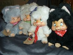 Set of 4 NYAMY Washino 1979 Peppi, Vanilla, Nappy, Felina Vintage RARE