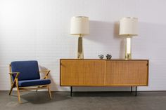Pair of Vintage Mid-Century Gold Table Lamps by Laurel Lamp Mfg.  $1800/PAIR  MIDCENTURY MODERN FINDS