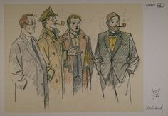 Blake and Mortimer by André Juillard  Signed ex-libris on heavyweight satin finished art paper.