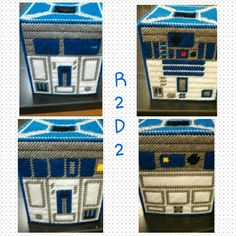 R2D2 Plastic Canvas Tissue Box Holder