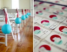 Easy blue and red decor ideas for a wedding or shower! Paper lanterns and ribbon! Turquoise Party, Red Turquoise, Aqua Blue, Red And Blue, Aqua Red Wedding, Wedding Colors, Bridal Packages, Victoria Wedding, Dream Wedding