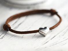 Wunderschönes Armband mit Herzanhänger für Verliebte / cute bracelet with heart…
