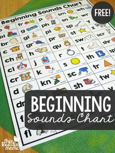 This free beginning sounds chart is a great resource for making rhyming words or spelling word families. Includes 55 different beginning sounds from This Reading Mama