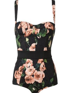 Dream suit.... searching for something similar.  Dolce and Gabbana Floral Print Body Suit