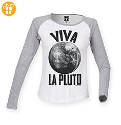 Damen Raglan Baseball T Shirt Viva la PLUTO Planet Mode Ladies von Buzz Shirts (*Partner-Link)
