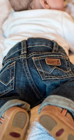 "Wrangler All Around Baby Boy's Blue ""W"" Pocket Jeans"