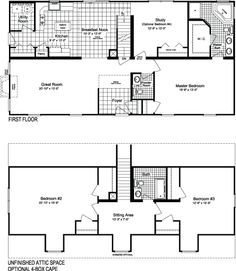 1000 images about floor plans on pinterest modular home for Cape cod modular home floor plans