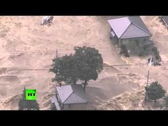09/10/2015 - Tsunami-like wall of water after floods hit Japan, tens of thousands evacuated - YouTube