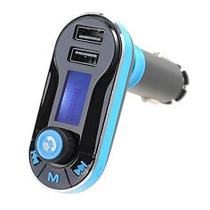 2015 BRAND NEW bluetooth car charger mp3 player mini dual port AUX FM transmitter