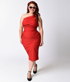Style a red dress 1x