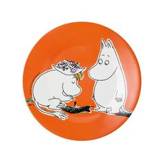 Moomintroll and Snorkmaiden dessert plate