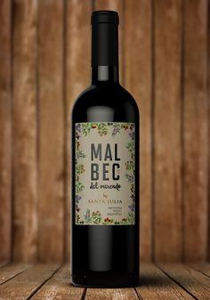 Malbec del Mercado - Santa Julia (vin argentin) | Design : Saguan Maron, Mendoza, Argentine (août 2016)