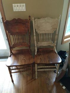 Painted in linen, distressed, and dark waxed! Painted in linen, distressed, and dark waxed! Refurbished Furniture, Paint Furniture, Repurposed Furniture, Furniture Projects, Kitchen Furniture, Furniture Making, Furniture Makeover, Home Furniture, Chalk Paint Chairs