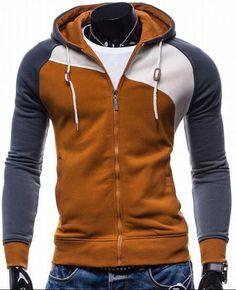 2016 Hoodies Men Sudaderas Hombre Hip Hop Mens Brand Leisure Zipper Jacket Hoodie Sweatshirt Suit Slim Fit Men Hoody XXL