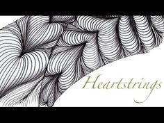 Love String Thing Zentangle Challenge 77 Heartstrings tangle