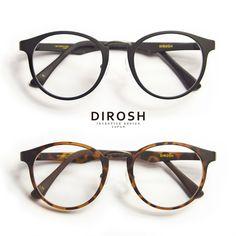 DIROSH/ディロッシュ/メタル&セルコンビ軽量ボストンメガネ/丸メガネ/度付きメガネ/伊達メガネ