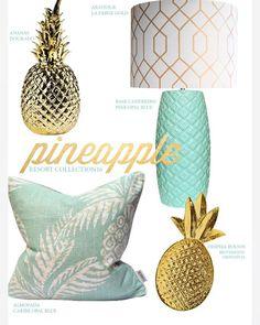 The Pineapple trend is a favorite at my shop! 🍍🍍 A tendência do ananás, é uma das favoritas da minha loja! Vejam as novidades na lojaonline em Lojaquerido.com #pineapple #lojaquerido #pineapletrend #interiordesign #interiors #homefurnishings #homedecor #gold #golddetails #homestyling