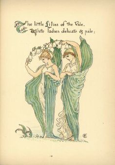 Flora's Feast (1889) p. 19 by Walter Crane  (A Fairy's Festival of Flowers)