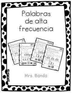 100 Palabras de alta frecuencia Kinder (uso frecuente