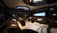 luxurious yacht interiors | The luxurious interiors of Strand Craft 122 Super Yacht include LED ...