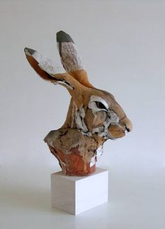 Ceramic animal sculpture.